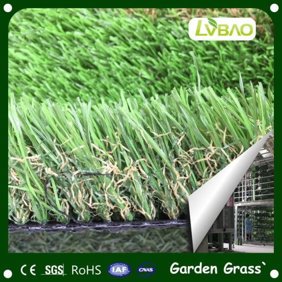 Evergreen Natural Look Synthetic Turf for Landscaping Decoration