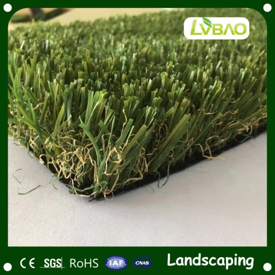Commercial Home&Garden Fake Yarn Customization Waterproof Natural-Looking Fire Classification E Grade Artificial Grass